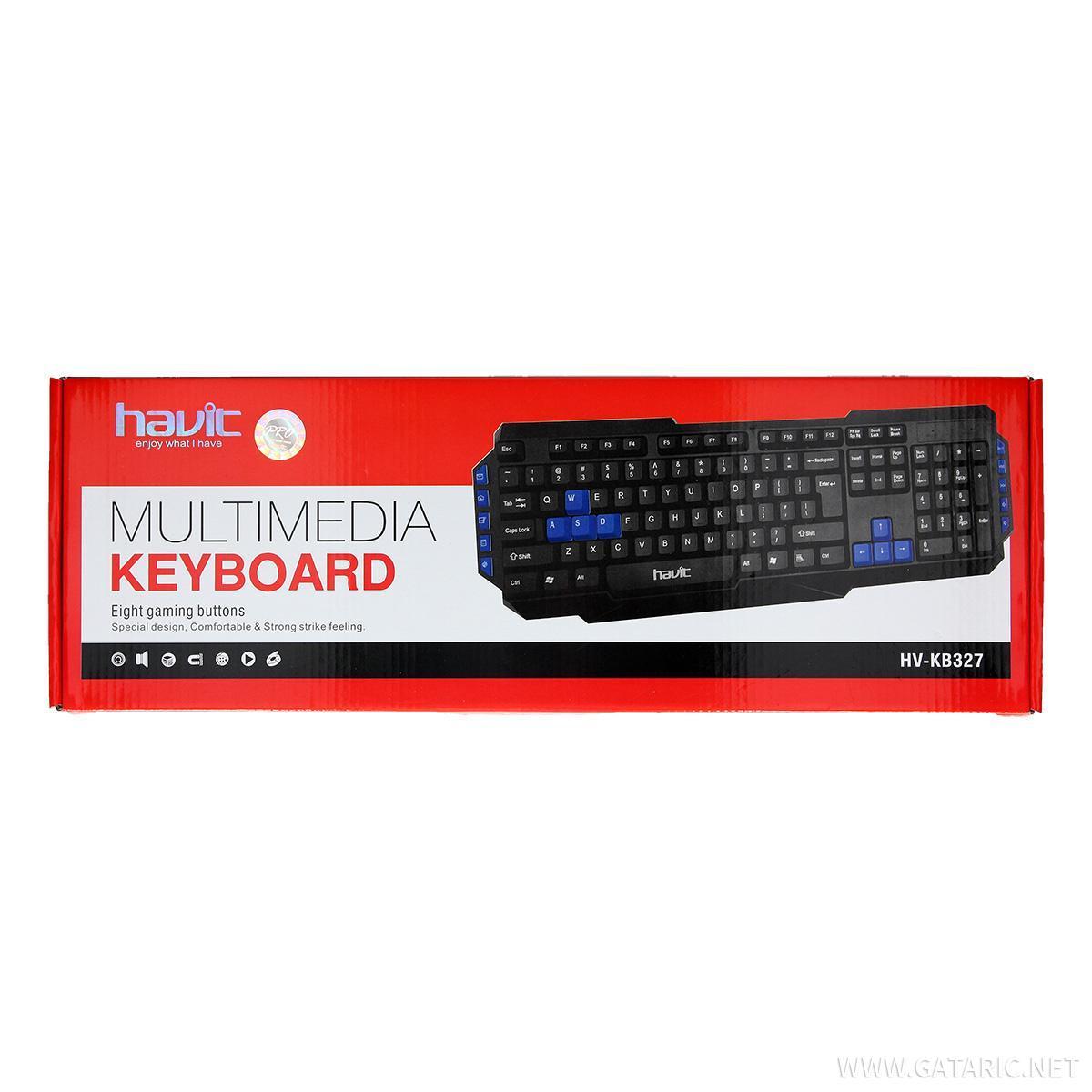 0b54e501c82 USB tastatura Multi-media ''HV-KB327'' 6950676209297 | Gataric Group