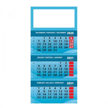 Kalendar poslovni, trodjelni