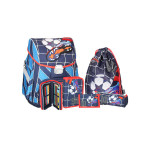 School bag set ''Football No.10'', metal buckle