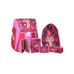 School bag set ''Owl'', metal buckle