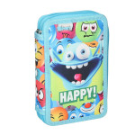 Empty pencil case ''HAPPY'', 2 zipper