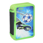 Empty pencil case ''FOOTBALL GOAL'', 3 zipper