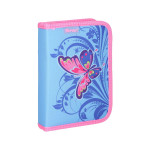 Pencil case ''BUTTERFLY PINK'', 1 zipper, 50 parts