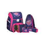 School bag set ''Heart Key', metal buckle