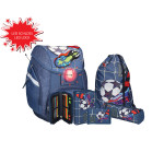 School bag set ''Football Goal'', LED lock buckle