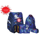 School bag set ''FOOTBALL PLAYER'' Prolight 5-Pcs (LED buckle)