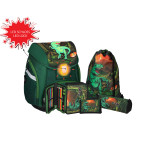 School bag set ''T-Rex'', LED lock buckle