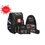 School bag set ''Sport Car'', LED lock buckle