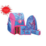 School bag set ''Butterflyr'', LED lock buckle