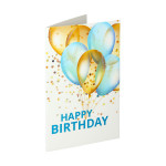 3D Greeting card ''Happy Birthday 10''