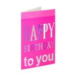 3D greeting card Happy birthday ''Hearts''