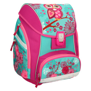 School bag set ''Owl'', LED lock buckle