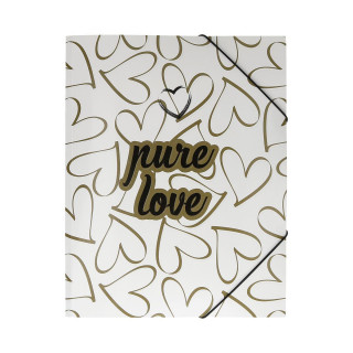 Elastic File ''Love Heart''A4, with 3 flap