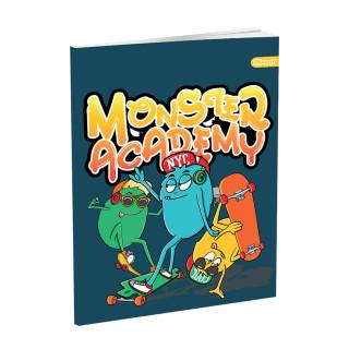 Schulheft A5, Softcover-Umschlag, Monsters II, 52 Blatt