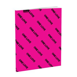Schulheft A5, Softcover-Umschlag, Kariert, Quotes III, 52 Blatt