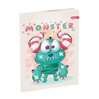 Schulheft A5, Softcover-Umschlag, Karo, Monster III, 52 Blatt