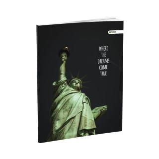 Schulheft A5, Softcover-Umschlag, Kariert, Cities, 52 Blatt