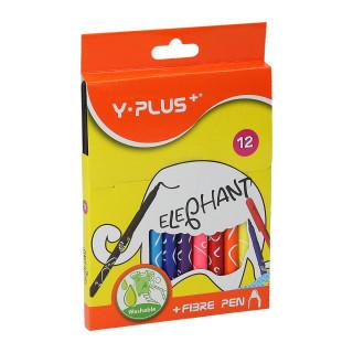 Fiber pens ''Elephant'', 12 colours