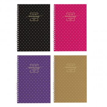 Schulheft A5, Softcover-Umschlag, Gold Style Liniert, 80 Blatt