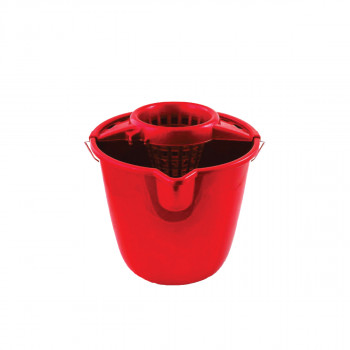 Round bucket with squeezer 12L