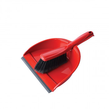Household dustpan with broom