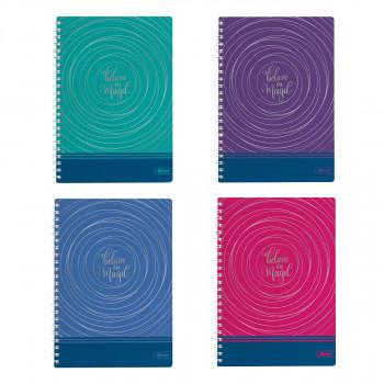 Collegeblock A5 Hardcover-Umschlag Magic 80 Blatt, Sortiert