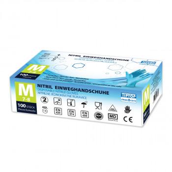 Disposable Nitrile gloves M 100/1
