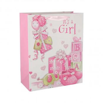 Poklon vrećica ''Baby girl'', L
