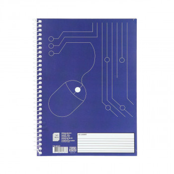 Spiral notebook A5, 50 lines sheets