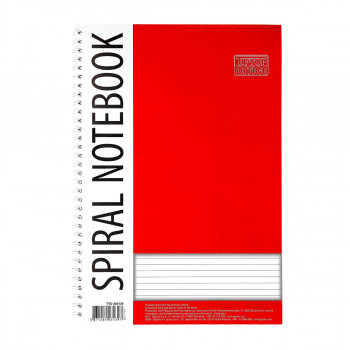 Spiral notebook A4, 50 lines sheets