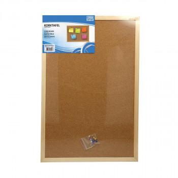 Cork board wooden frame, 60x90cm