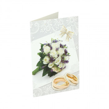 Greeting card 3D ''Wedding day 02''