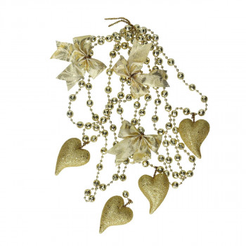 New year decorative chain ''Heart''