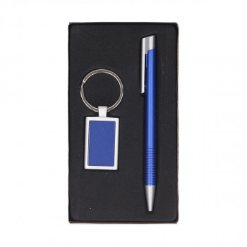 Ballpoint pen and keychain set ''Italy''