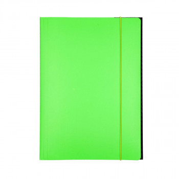 Elasticated File cardboard, A4 700gsm, 3 flaps