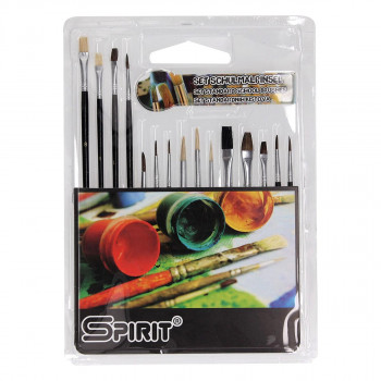 Brush Set, 15pcs, PVC blistercard