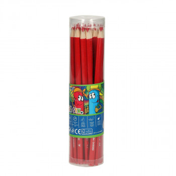 Wooden color pencils ''Premium'', 3.0mm red