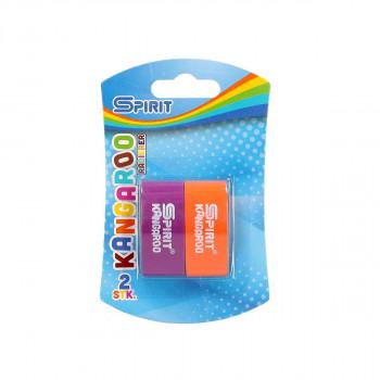Eraser ''Kangaroo'', 2pcs blistercard