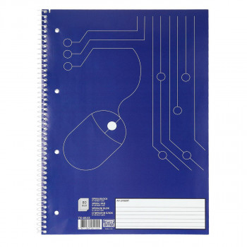 Spiral College Pad ruled, 4-ring, DIN A4, 80 lines sheets