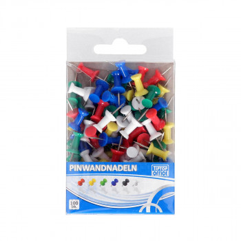Push pins, 100pcs PVC pack