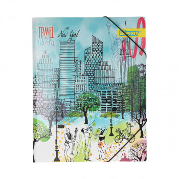 Elastic File ''City Fashion'' A4, with 3 flap