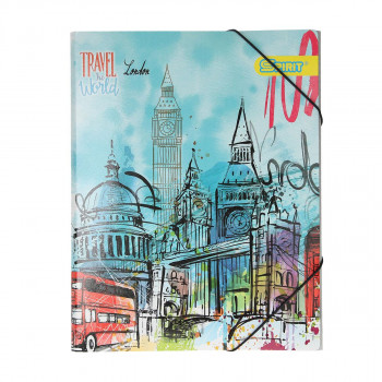 Elastic File ''London'' A4, with 3 flaps