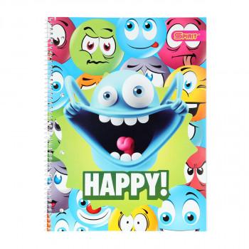 Kolegij blok sa spiralom ''Happy'', A4 dikto