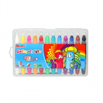 Silky crayons, 12pcs in pack