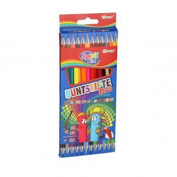 Wooden color pencils ''DUO'', 12+12