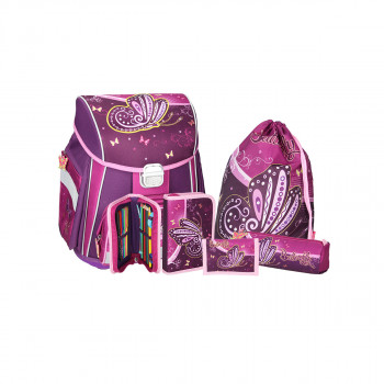 School bag set ''Butterfly'', metal buckle