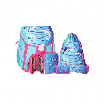 School bag set ''DOLPHINS'' START 5-Pcs (metal buckle)