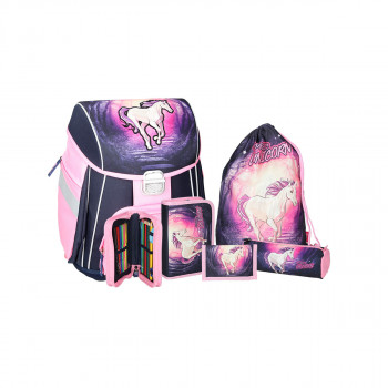 School bag set ''MAGIC UNICORN'' 5-Pcs (metal buckle)