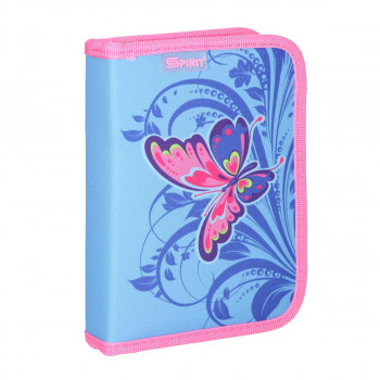 Empty pencil case ''BUTTERFLY PINK'', 1 zipper
