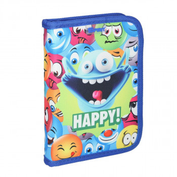 Empty pencil case ''HAPPY'', 1 zipper